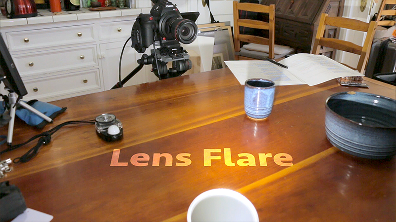 Back light's can create lens flare and spill light into the lens.