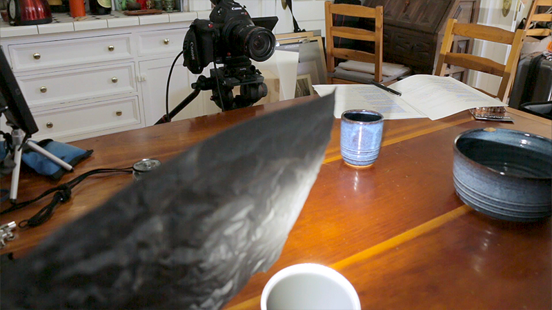 """Flagging the backlight off of just the lens, called a """"lenser.:"""