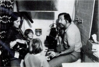"Ross shooting a scene for the film ""Oh Brother, My Brother"" in 1979. Source: January 1981 issue of Popular Photography magazine, page 159."