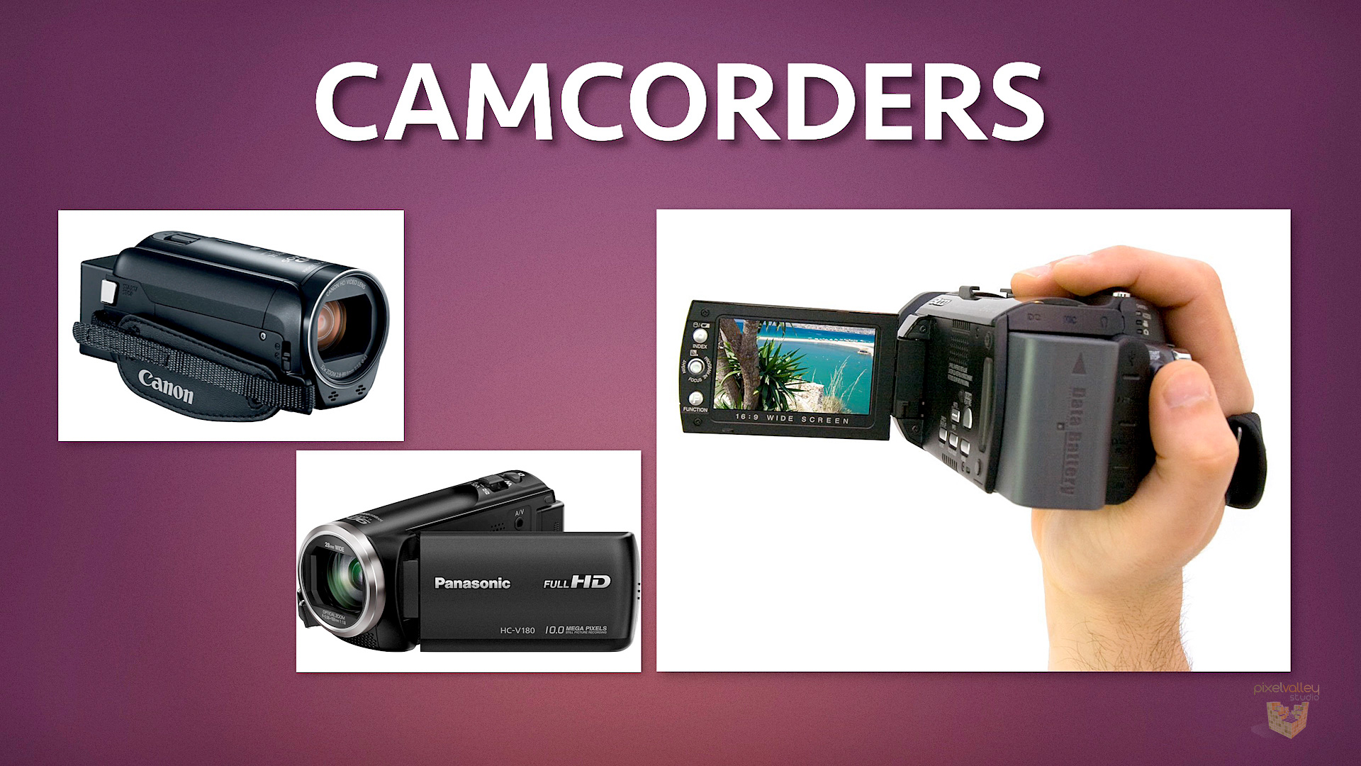 Camcorders still exist and though they're on the low price end, they still have their uses.