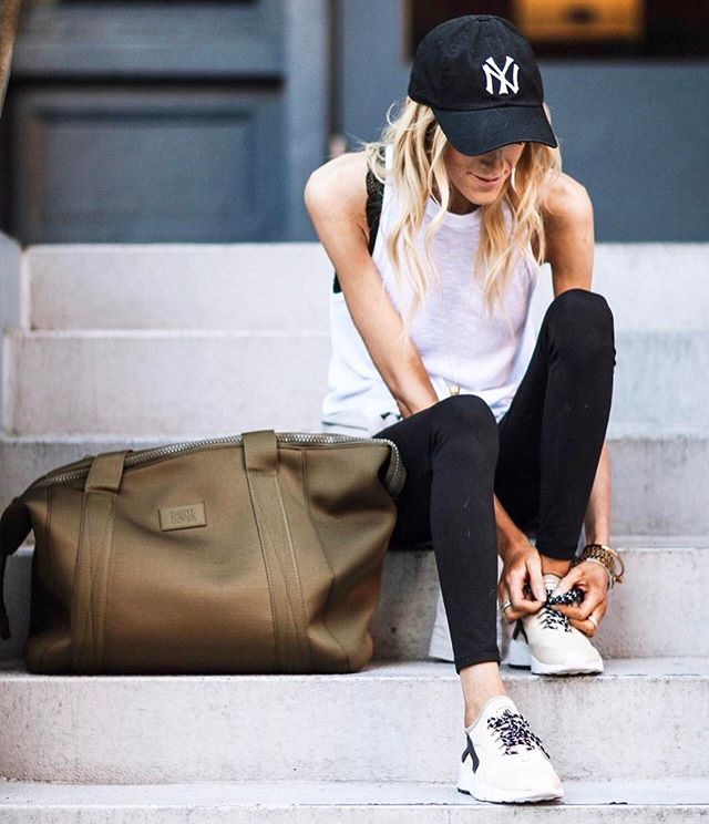 Athleisure essentials: baseball hat ✔️ super soft muscle tank ✔️ live-in leggings ✔️ cool sneaks ✔️ and a sweet gym bag to tote to carry the essentials. P.S. code 'MSAUER50' gives you a discount at @carbon38!  Shop this pic via screenshot with the new LIKEtoKNOW.it app or head to the direct link in my bio! http://liketk.it/2rpa9 @liketoknow.it #liketkit #LTKSaleAlert #LTKStyleTip #LTKFit #LTKShoeCrush