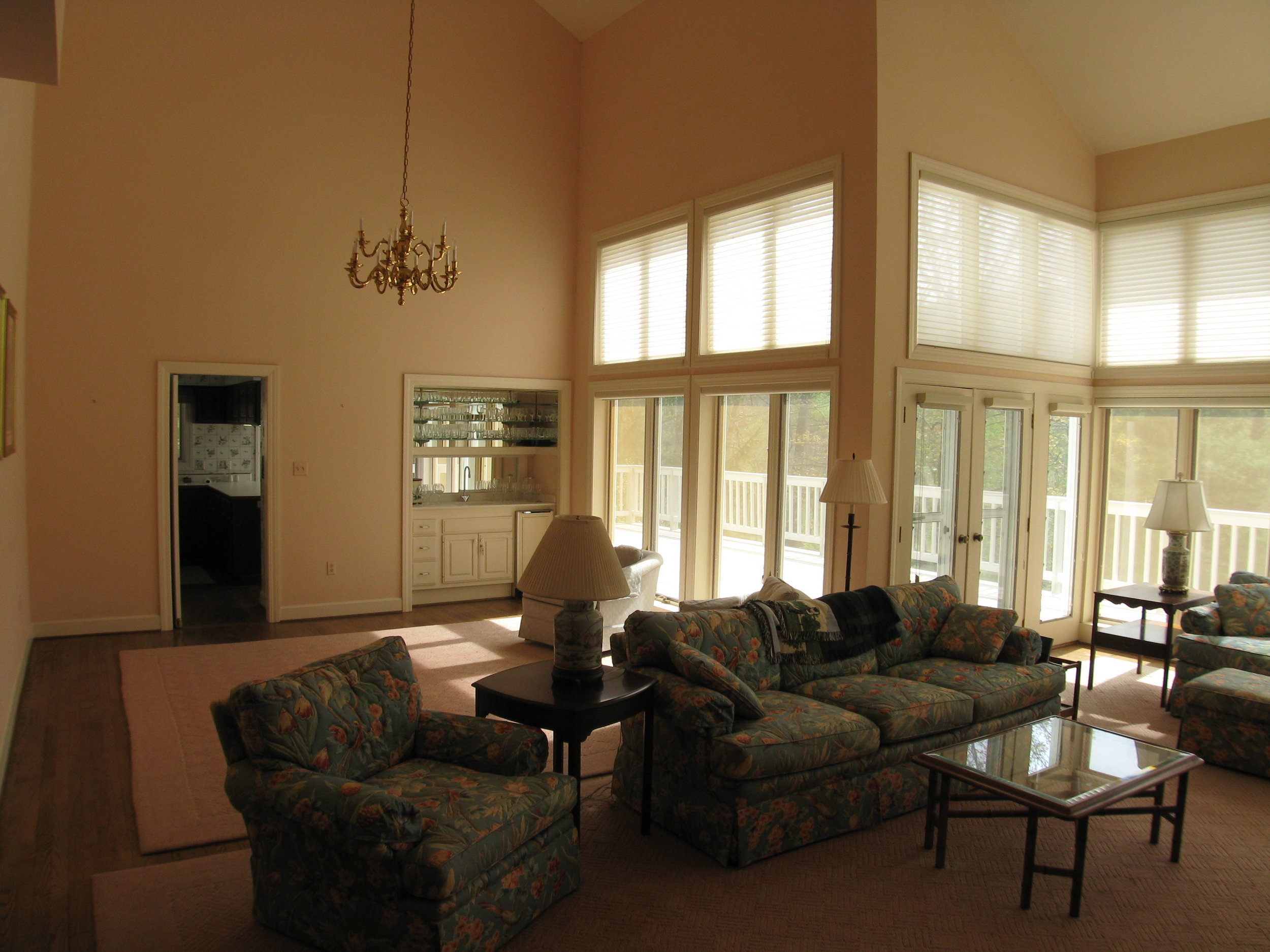 Living/Dining Areas with Cathedral Ceilings