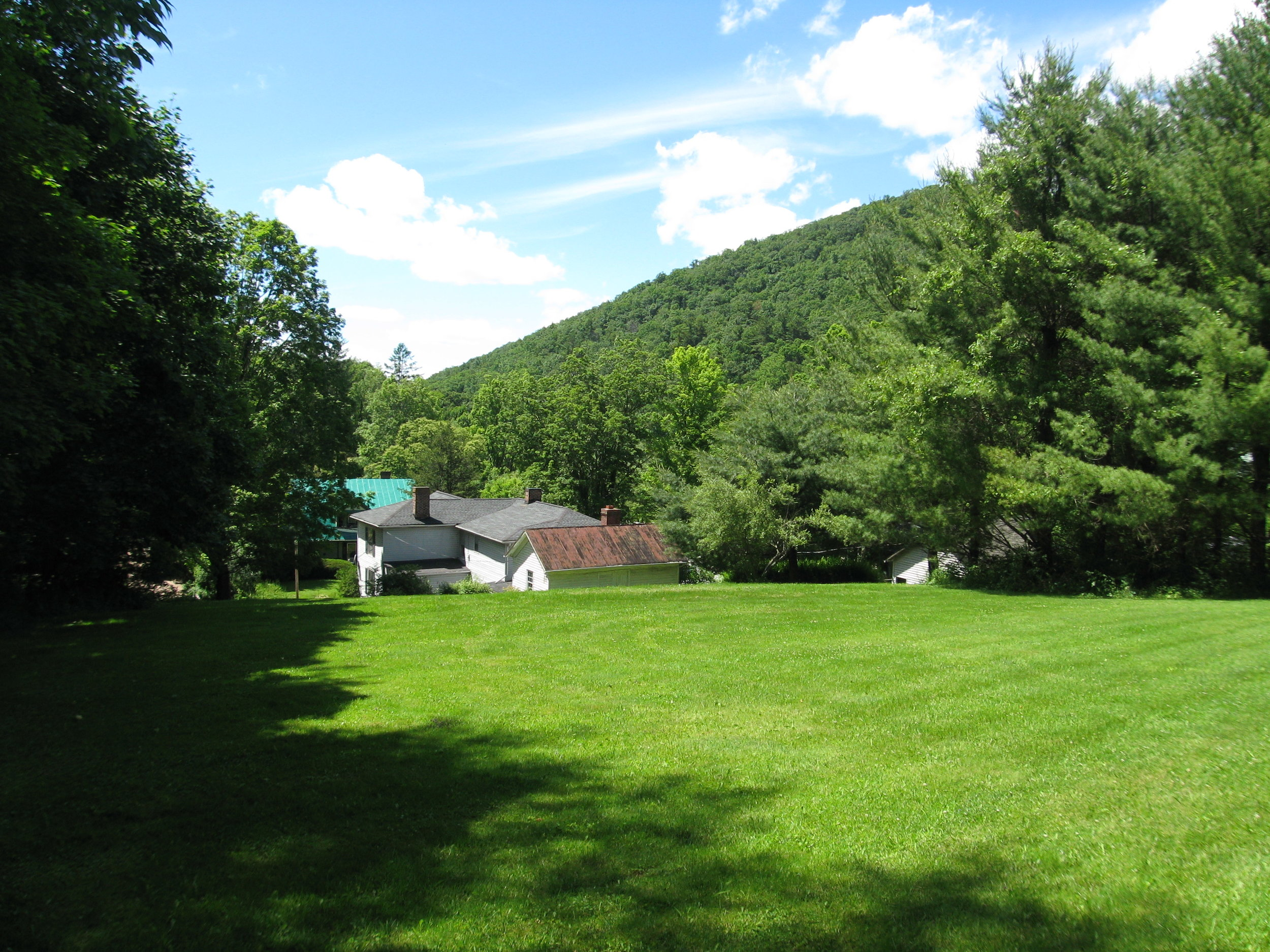 View from Upper Yard to West over Home