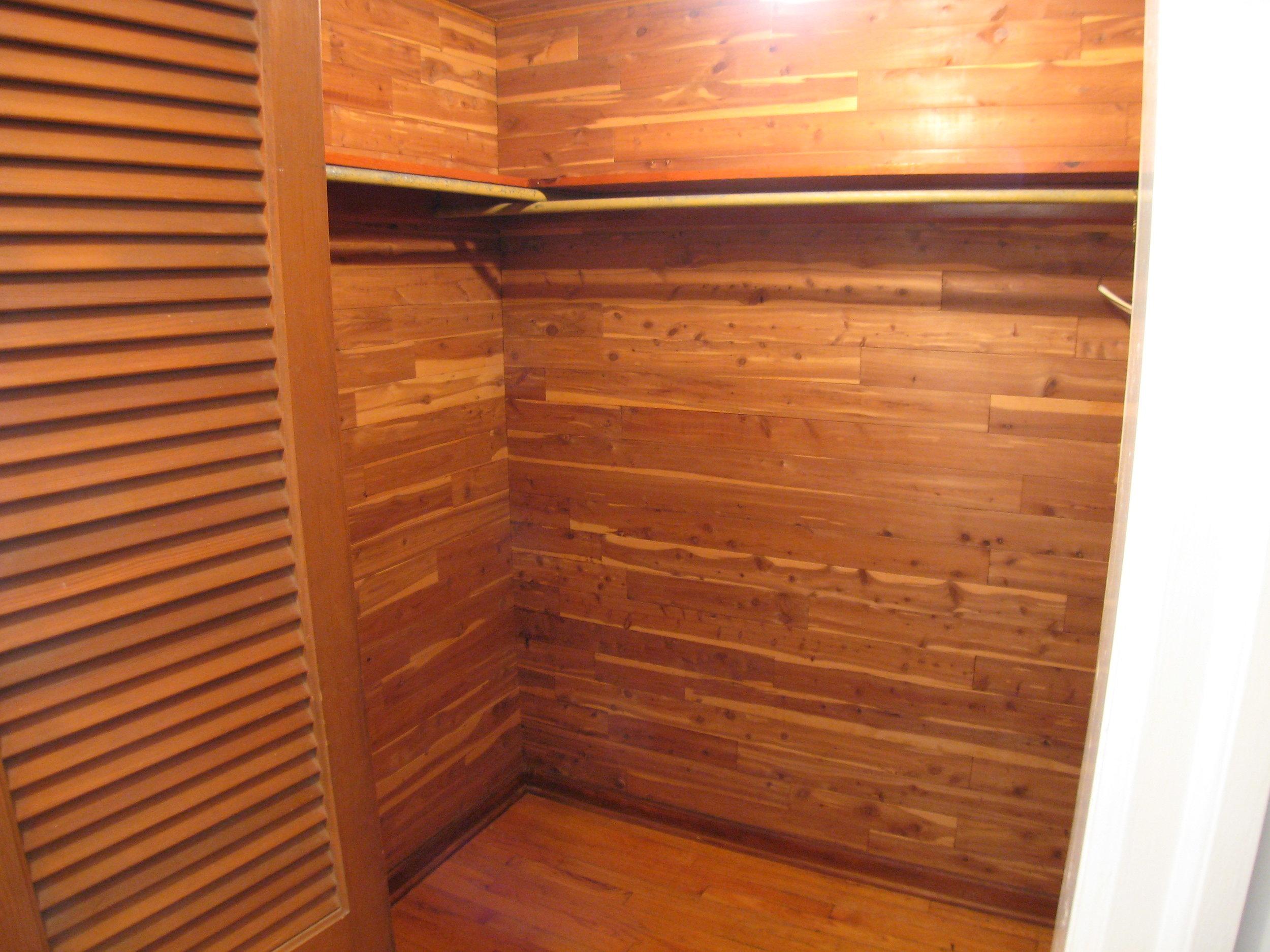 Cedar Closet at end of Hall