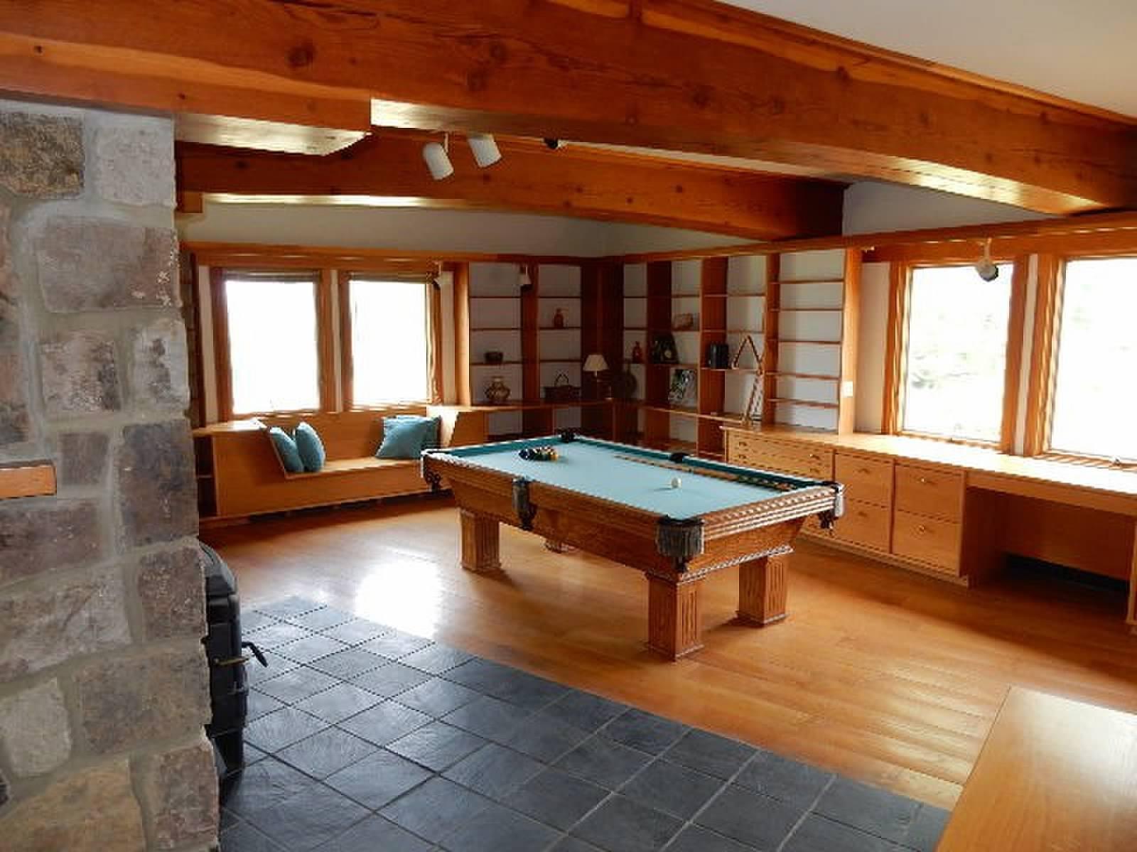 Main Floor Library/Pool Room