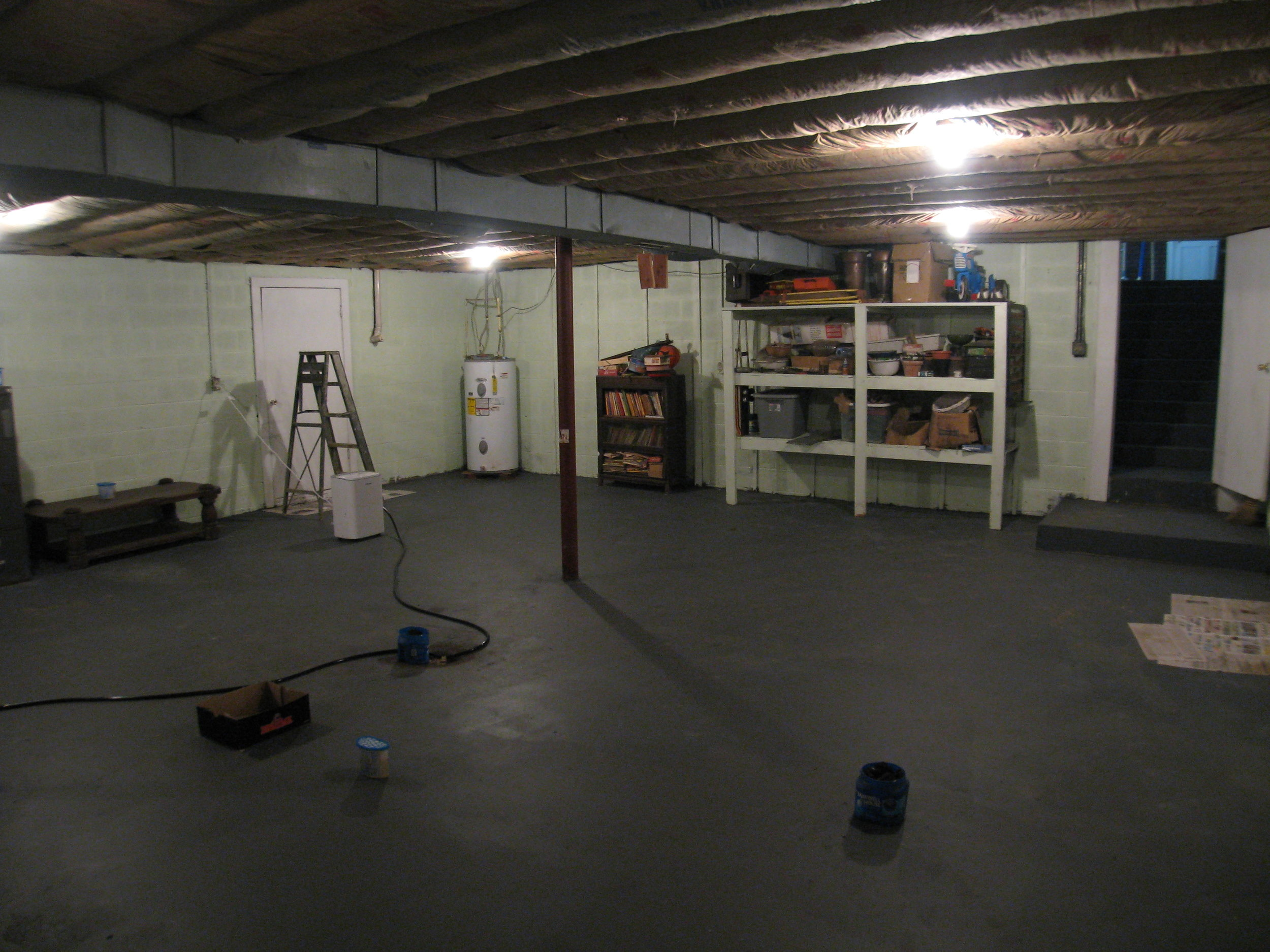 Partially Finished Basement
