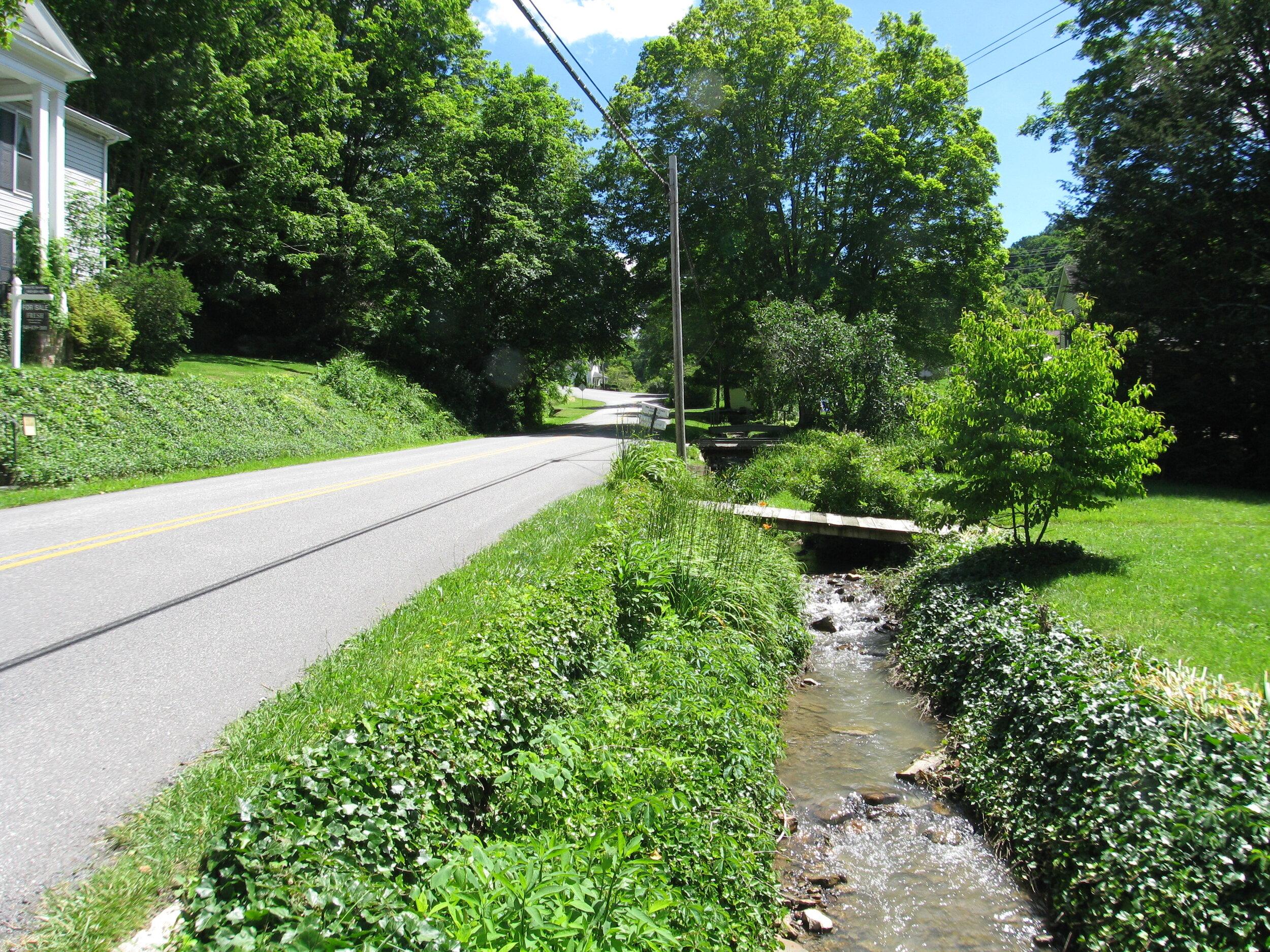 Stream across the road