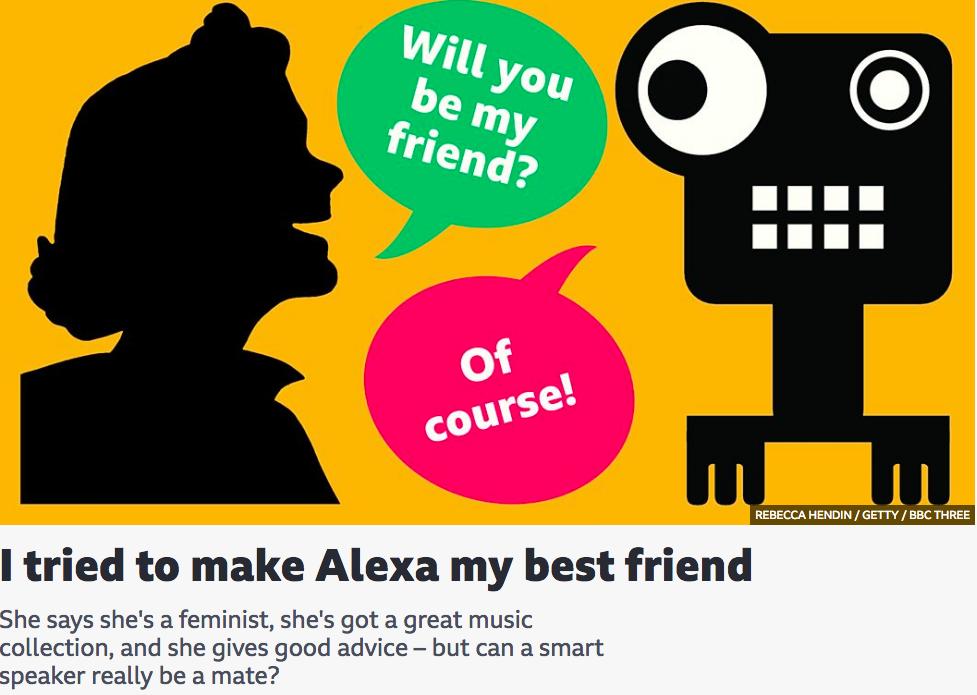 I tried to make Alexa my best friend BBC