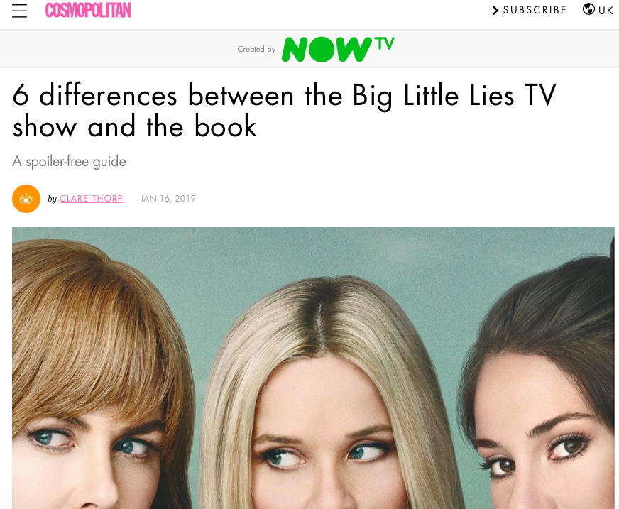 Differences between Big Little Lies the TV show and the book