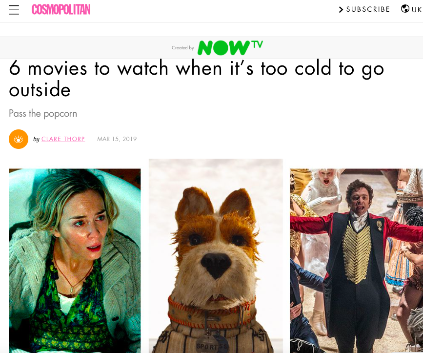 Movies to watch when its cold outside