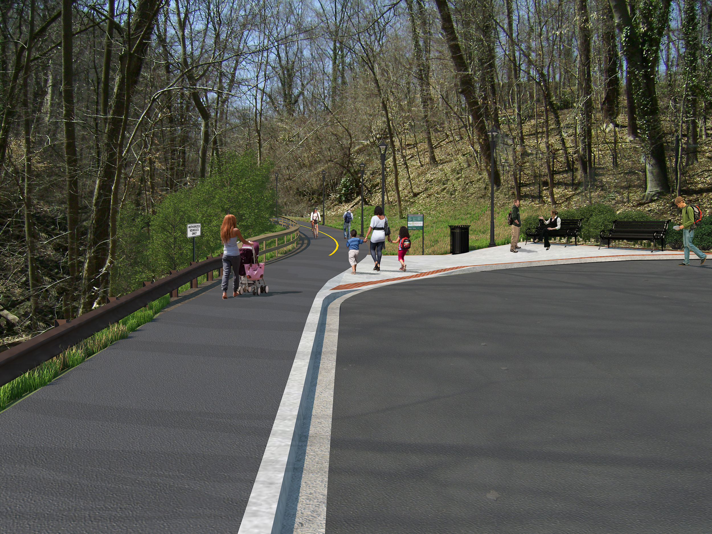 Rendering of the proposed east trailhead.