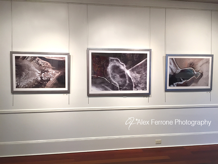 Winter Aerial Observations exhibited at Ashawagh Hall, East Hampton, NY 2015