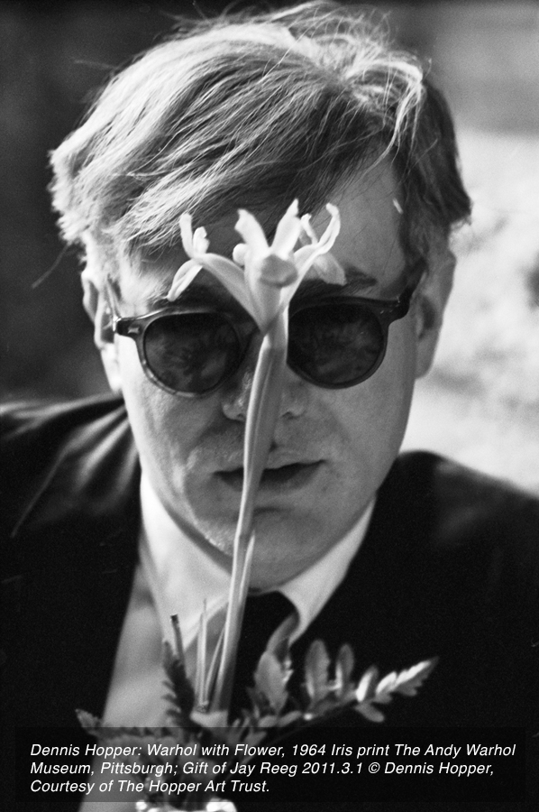 Warhol with Flower by Dennis Hopper