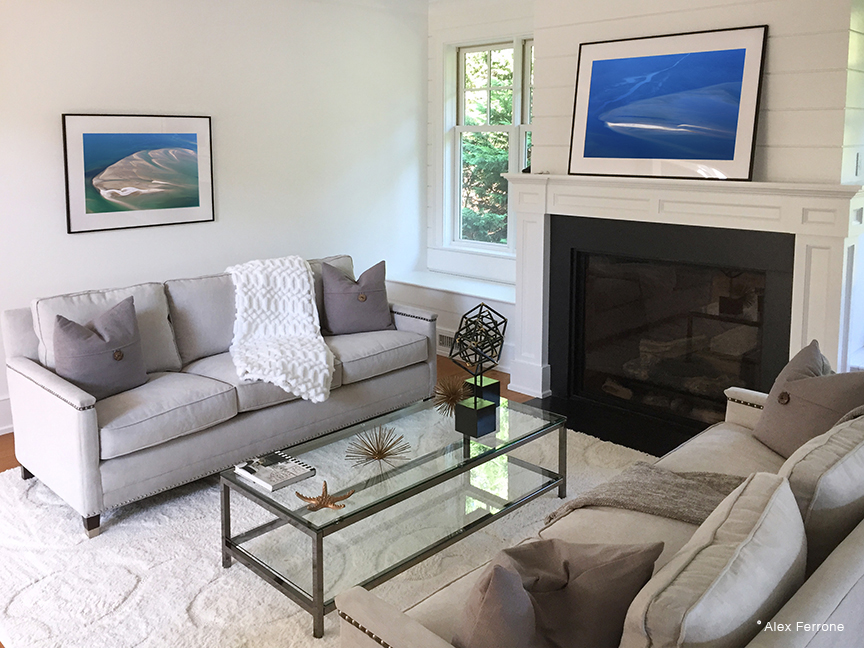 Transformation and All Blues installed in East Hampton Home