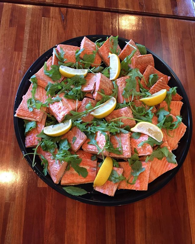 #smokedsalmon, #smokedfish  Sooo delish! Served with #salsaverde #catering #ridgewoodnj #vegetarian