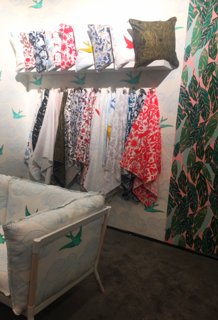 A range of prints in wallpaper and textiles