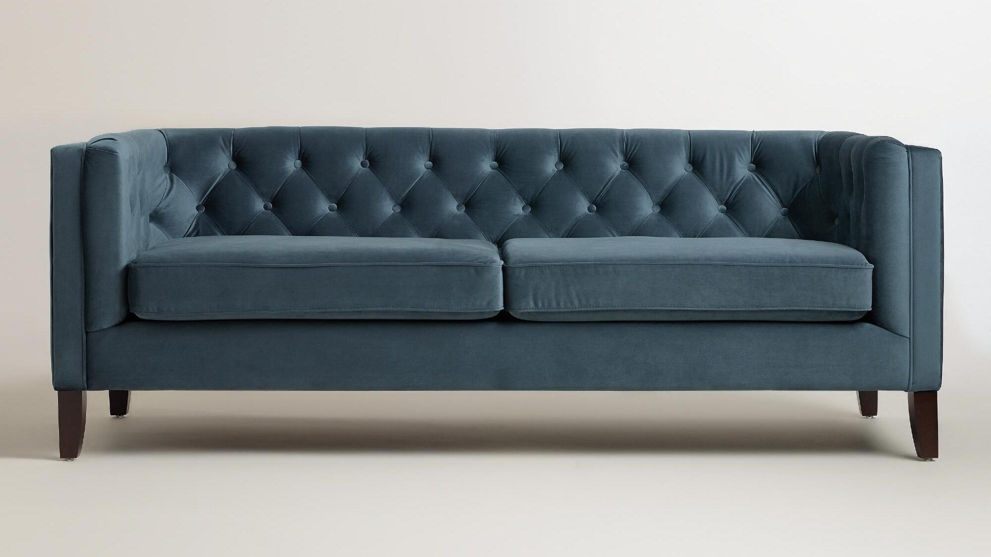 World Market - Velvet Kendall Sofa - $699