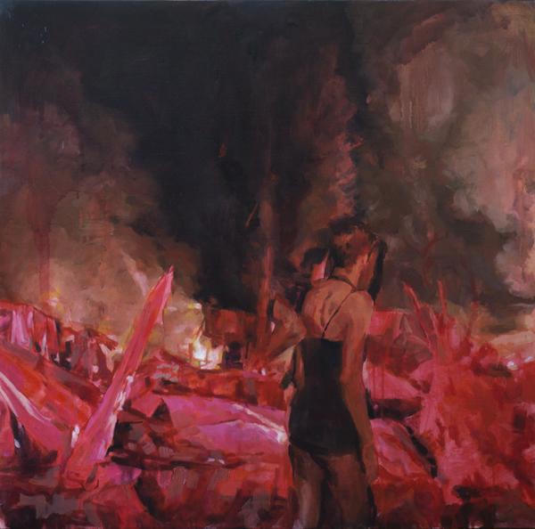 Horizon, oil on canvas, 76 x 76 cm, 2015