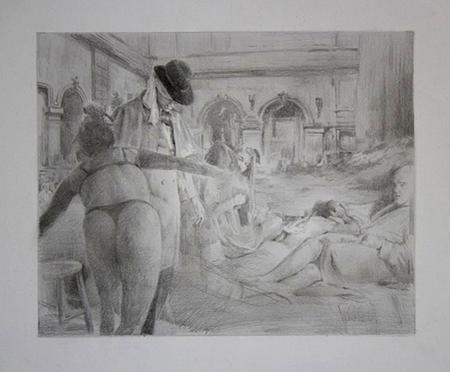 The Forgotten, graphite on paper, 31 x 35 cm,  2014