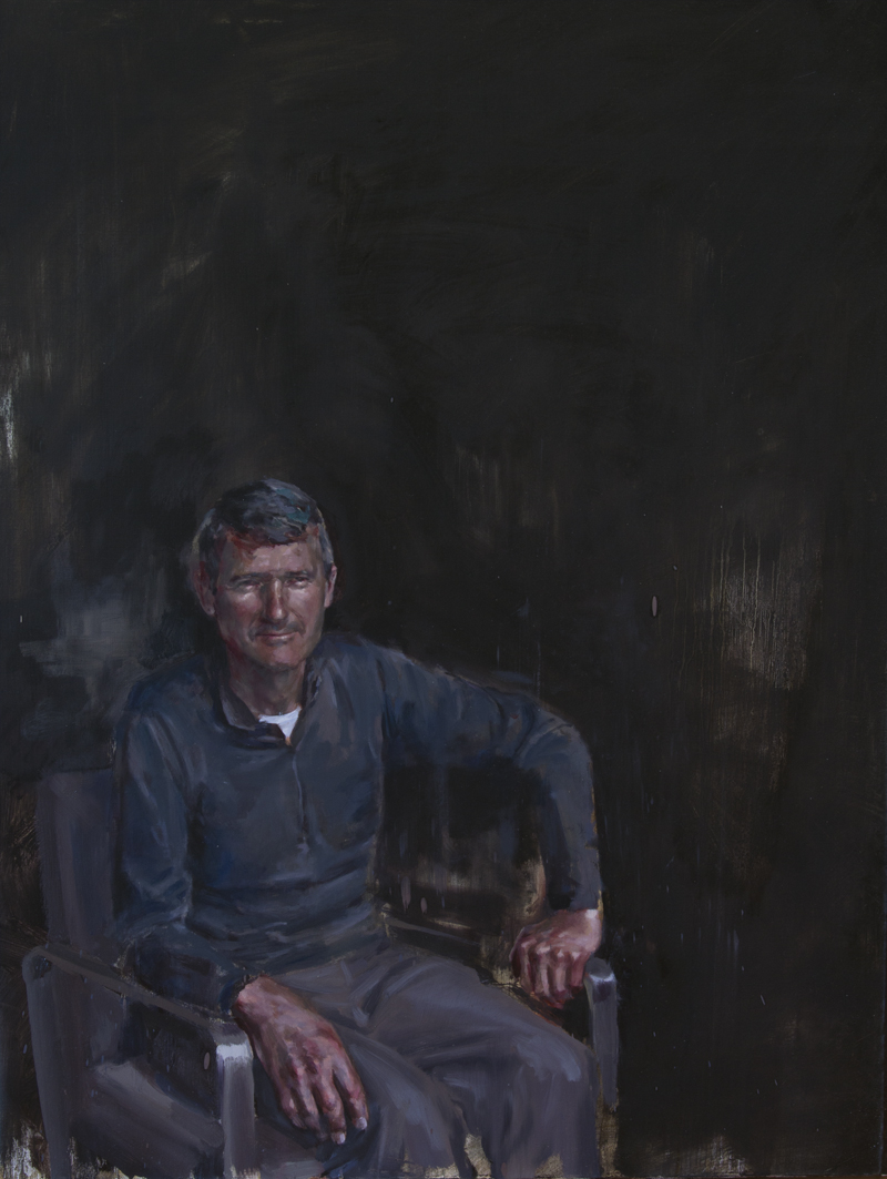 Man in Chair, oil on canvas, 102 x 76 cm, 2013