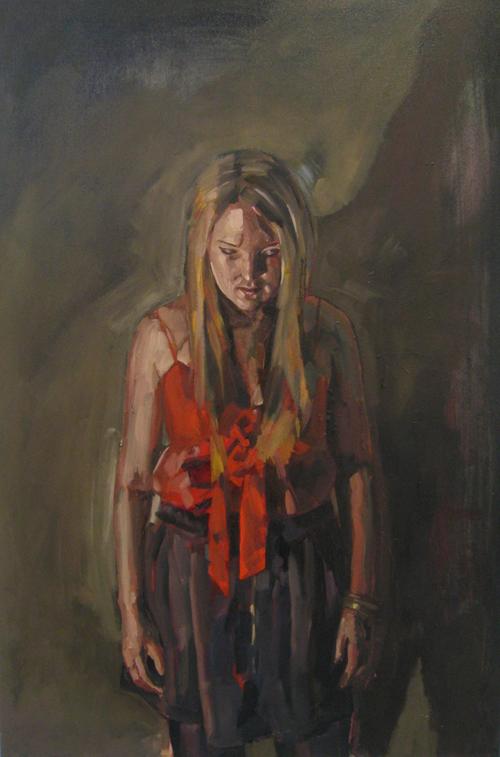 Murmur, oil on canvas, 92 x 60 cm, 2009