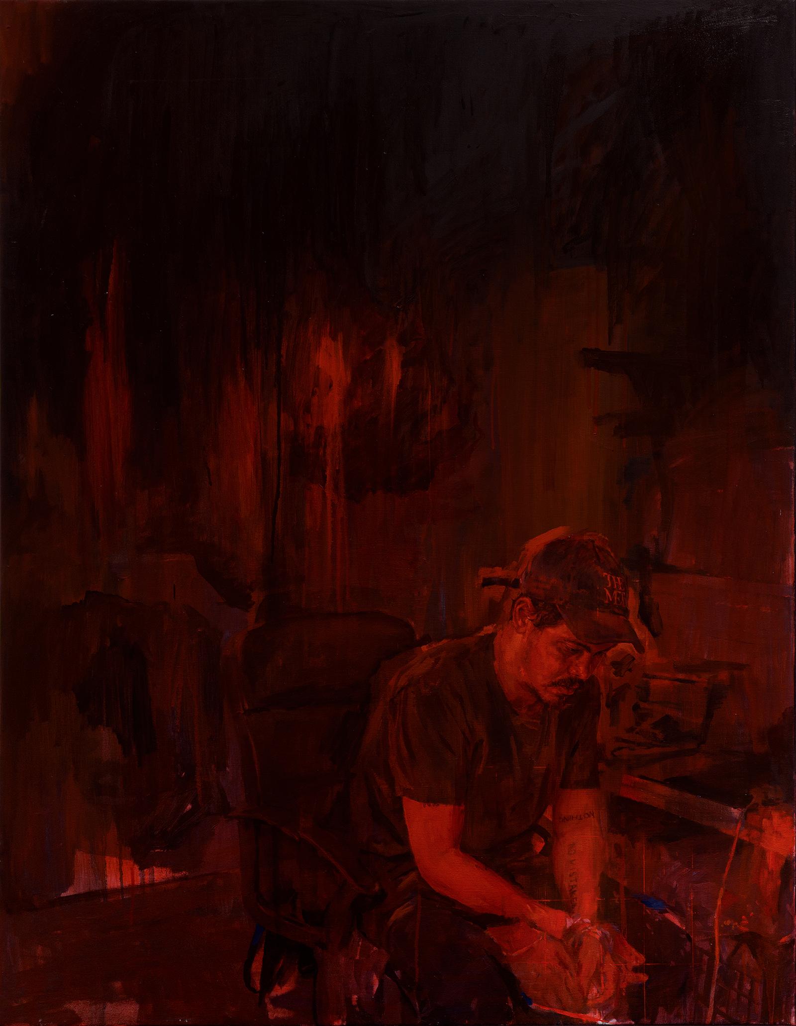 Abdul, oil on canvas, 160 x 110 cm, 2018