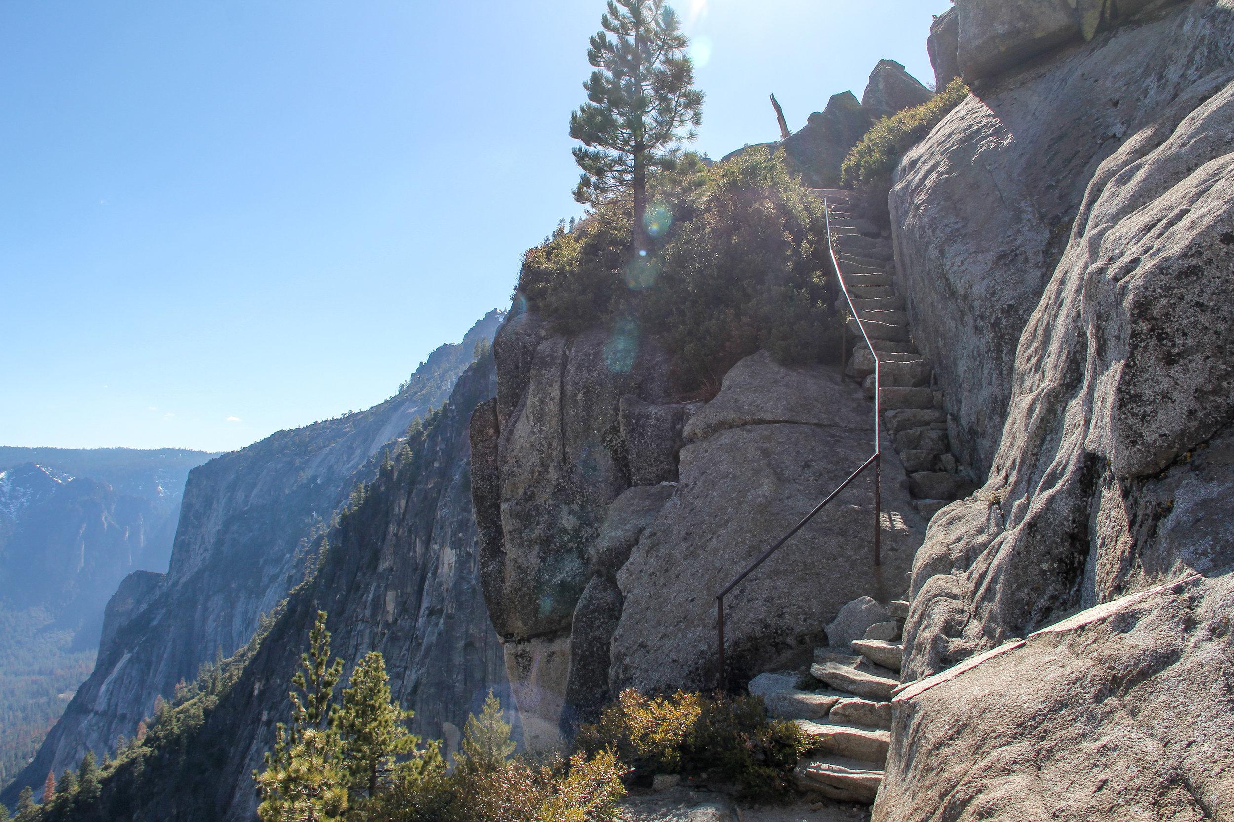 The Last Stretch of the Upper Yosemite Falls Trail, 2016