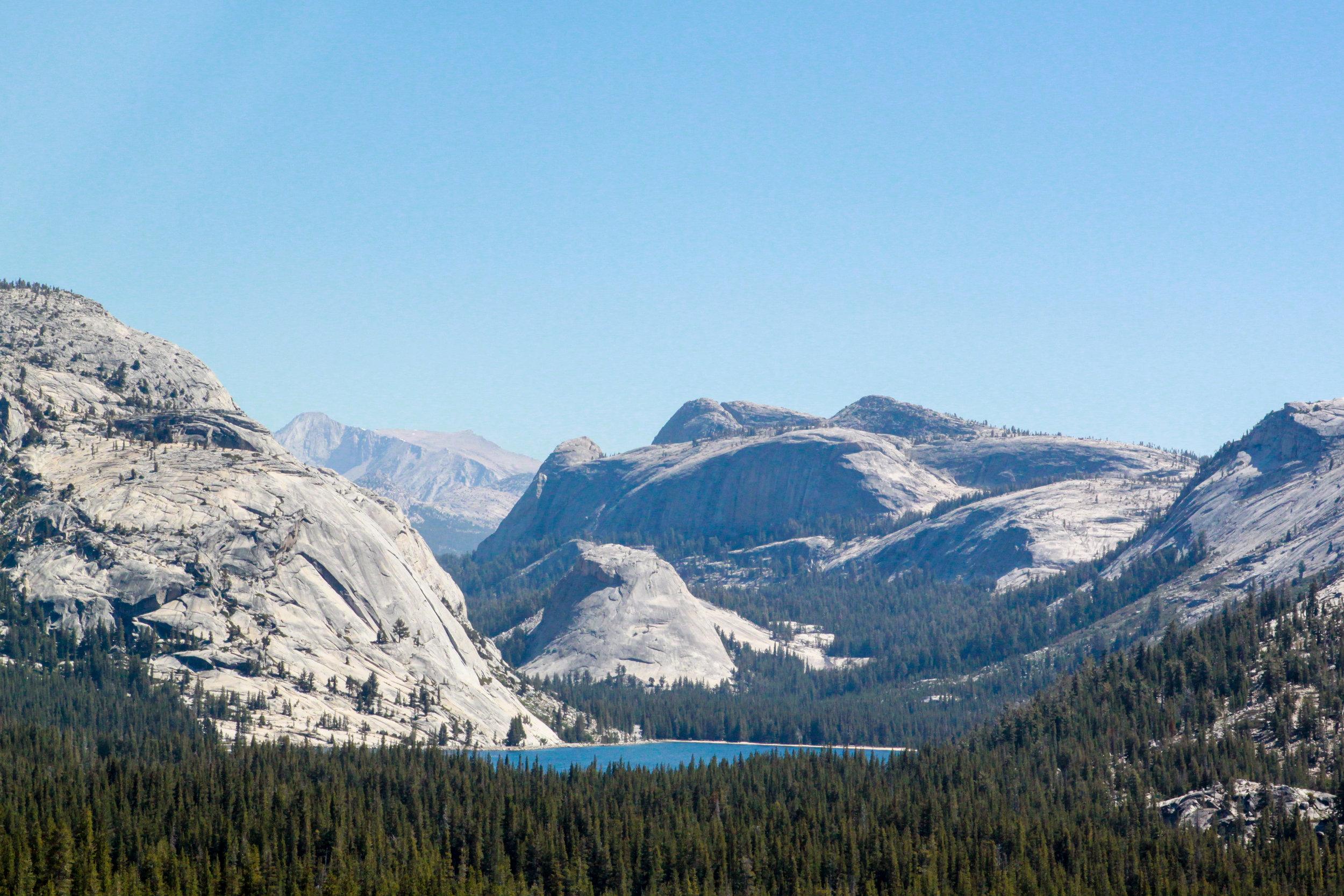 View of Tenaya Lake from Tioga Pass, 2012