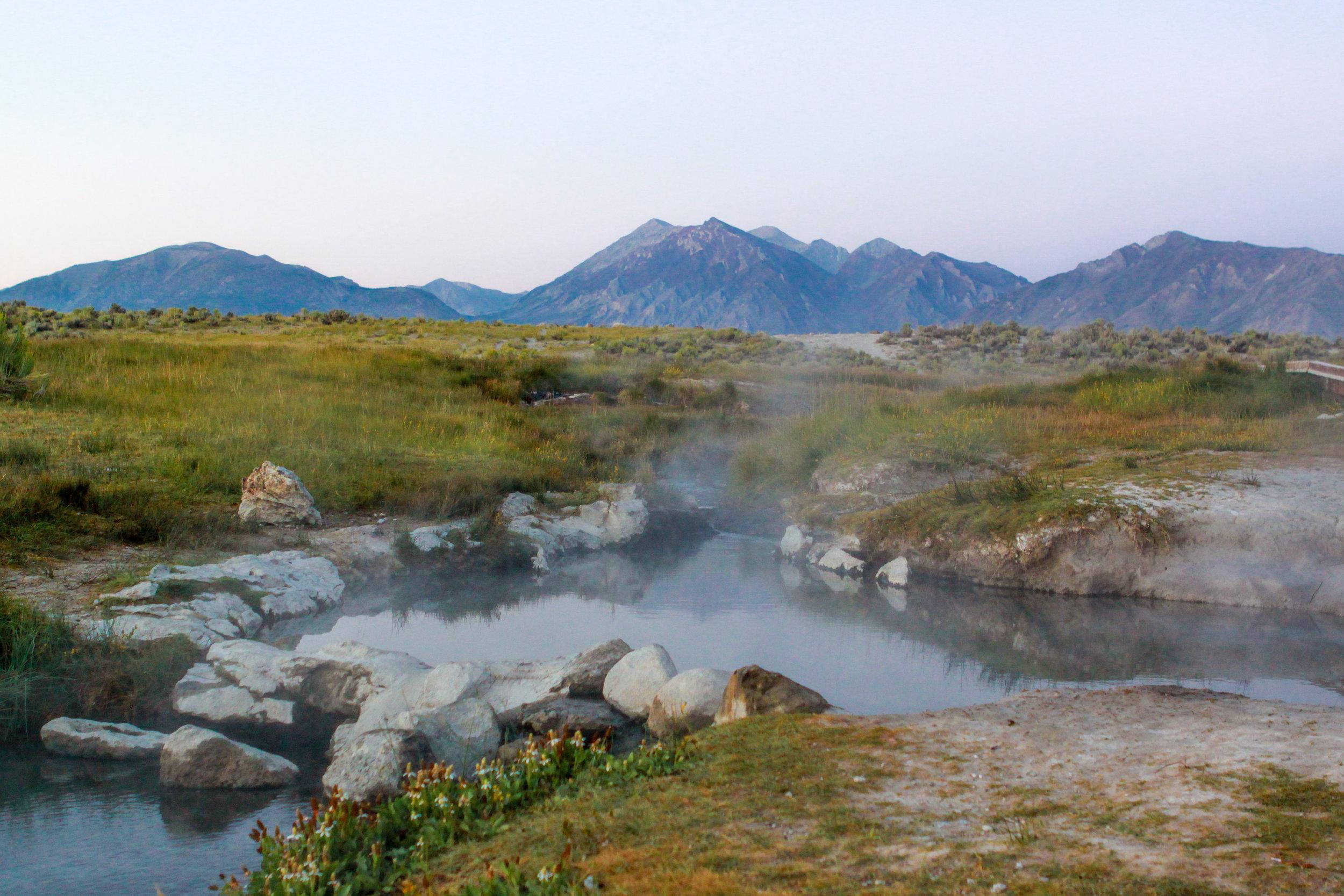 A Natural Hot Tub at the Mammoth Hot Springs, 2012