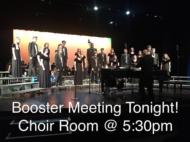 Join us for the last booster meeting of the year tonight in the Choir Room at 5:30 pm! #nuchoir #boosters