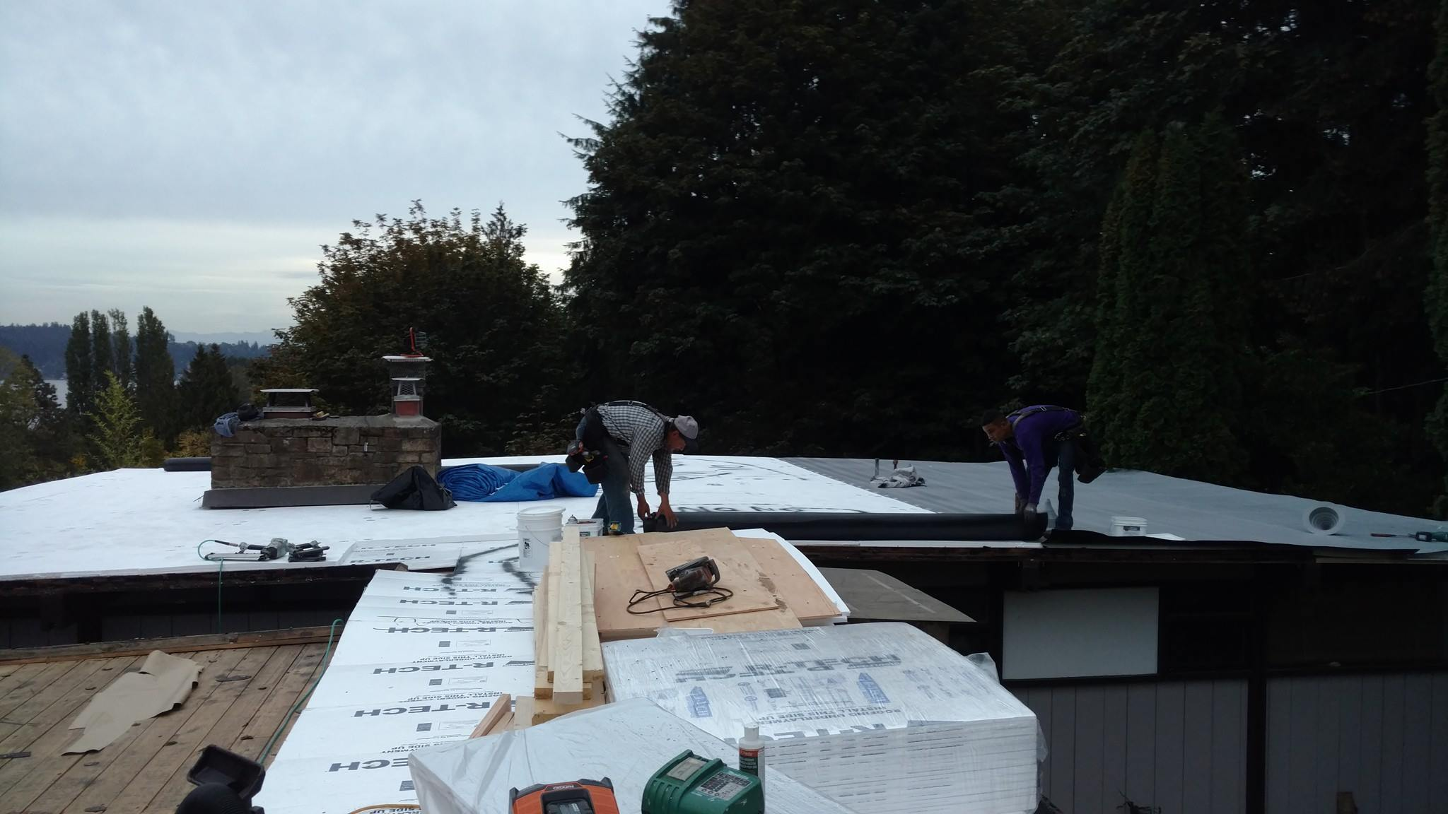 Flat Residential roofing Seattle