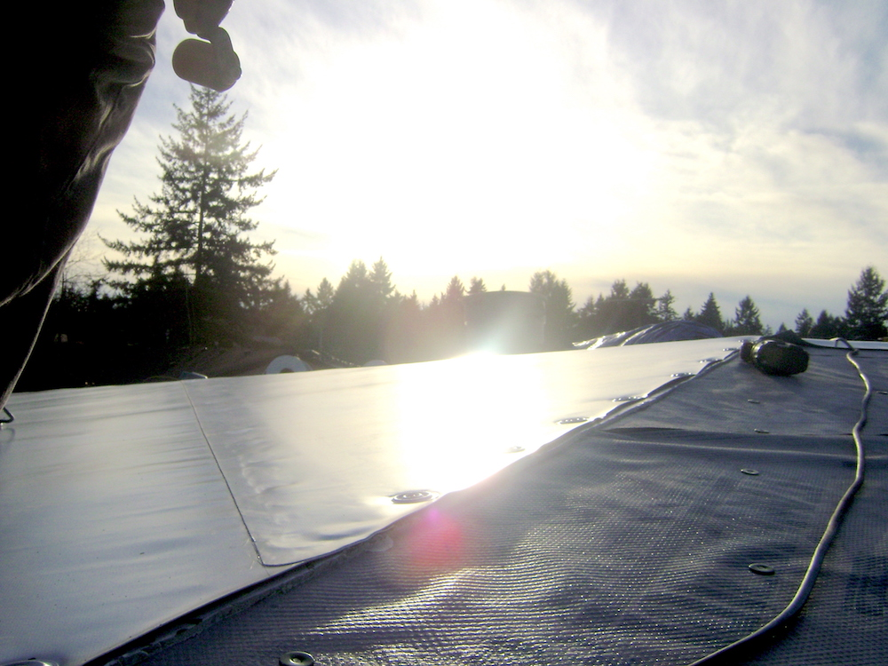 Flat Residential Reroof in Auburn WASHINGTON
