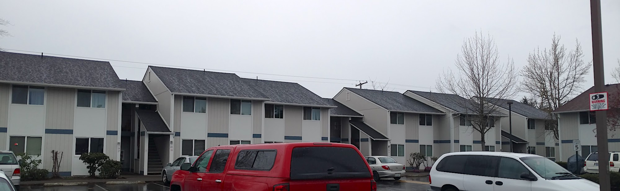 After the new asphalt shingle roofing system was installed.