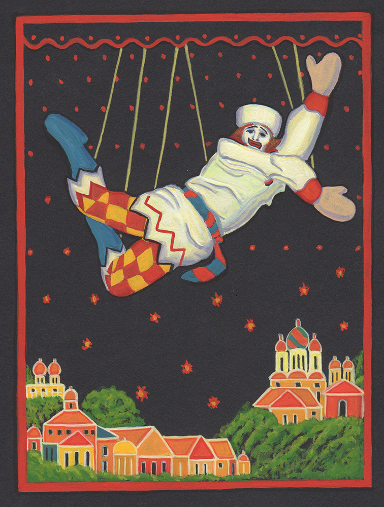 Poster for the opera Petrushka