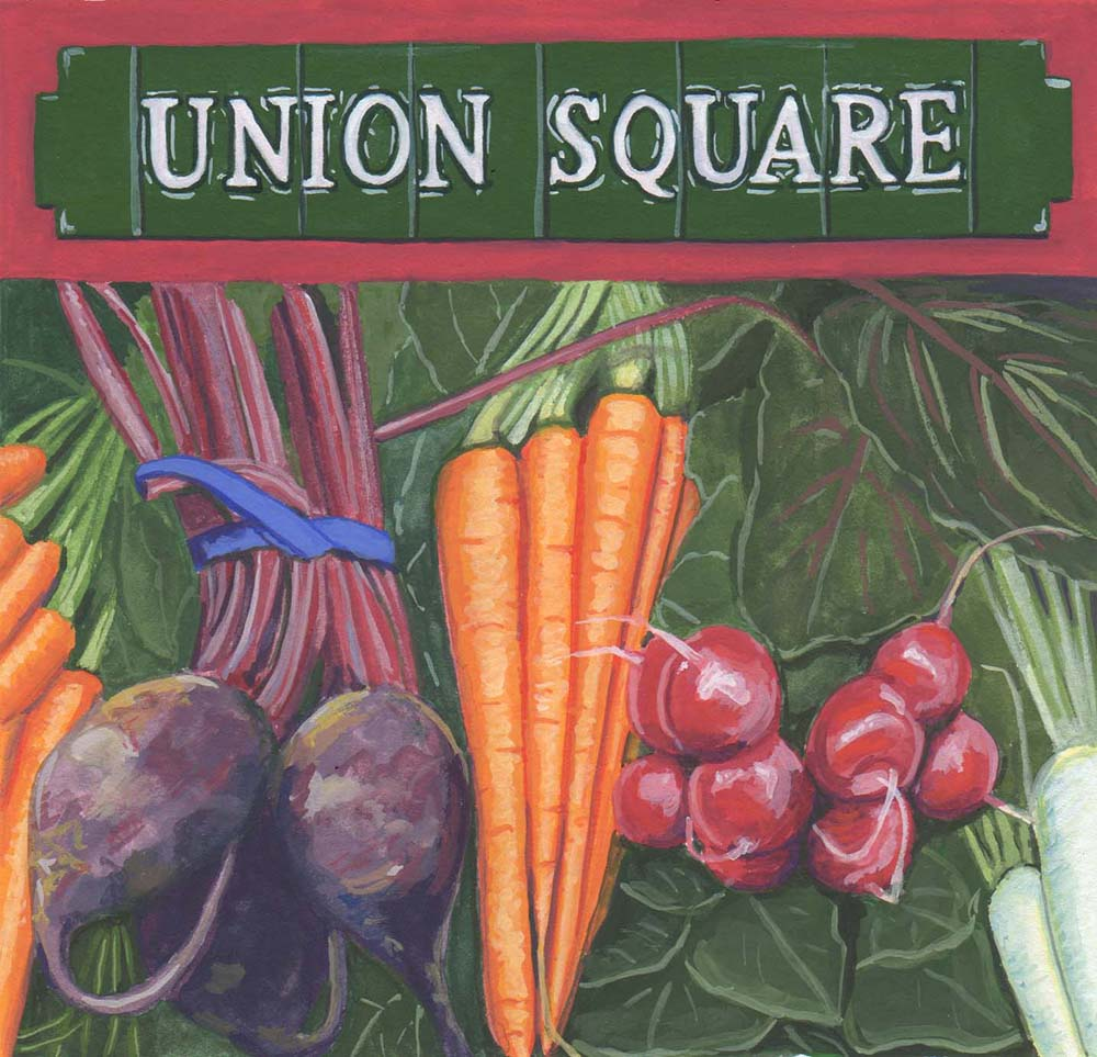 Advertisement for the Union Square Greenmarket, New York