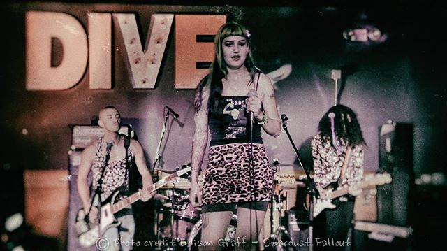 Dive Bar tonight! We're on at 10pm. Here's a throwback photo from three (!) years ago by the inestimable @stardustfallout. This is our second-to-last show of the year so let's have a good time for a great cause.