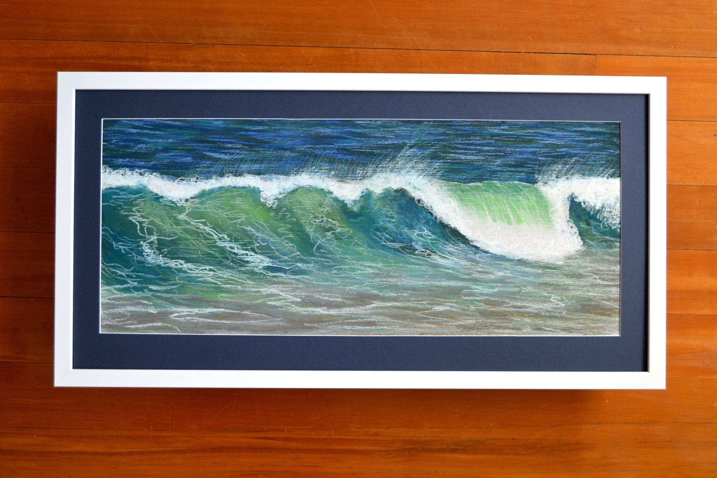 Wave at Tunnel Beach:white frame.jpg