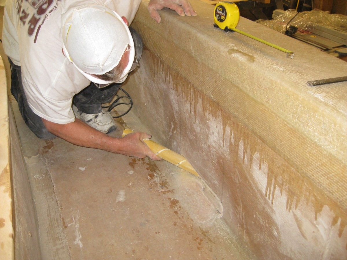 Chester shaping scupper inboard