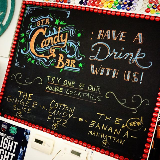 Have a drink with us!!! 🍭🥃🍬🥃🍭 #otrcandybar #thisisotr #cincinnati #cottoncandy #fizz #gingerslice #peppermint #oldfashioned #cocktails #bartending #cincybars #elmstreet #treatyoself #sundayfunday