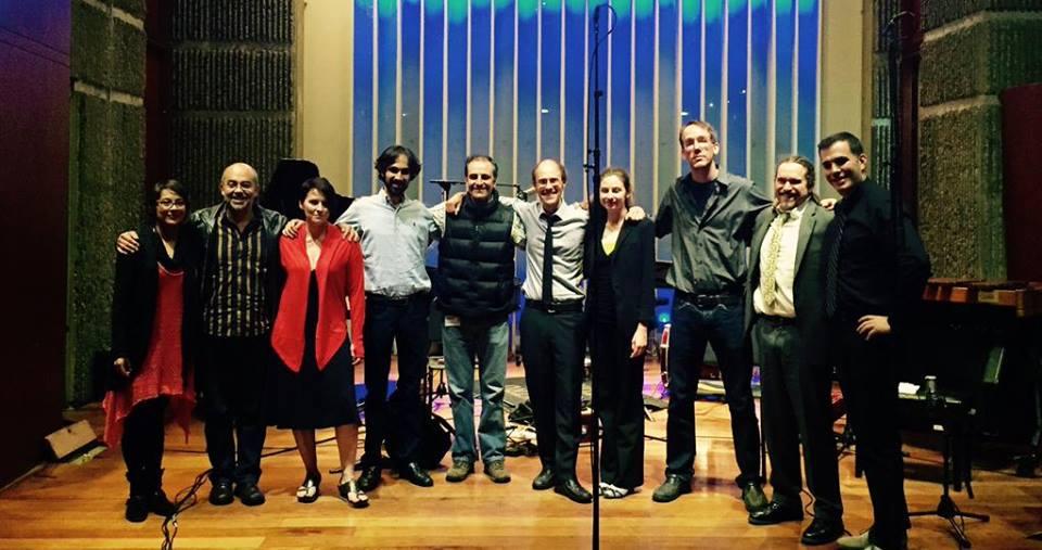 Post-concert at Universidad Javeriana in Bogota, Columbia.