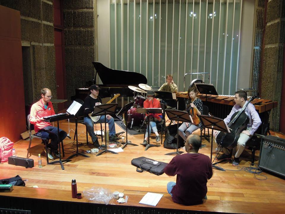 Composer Adolfo Acosta works with Dal Niente on his piece  verdaderos negativos .