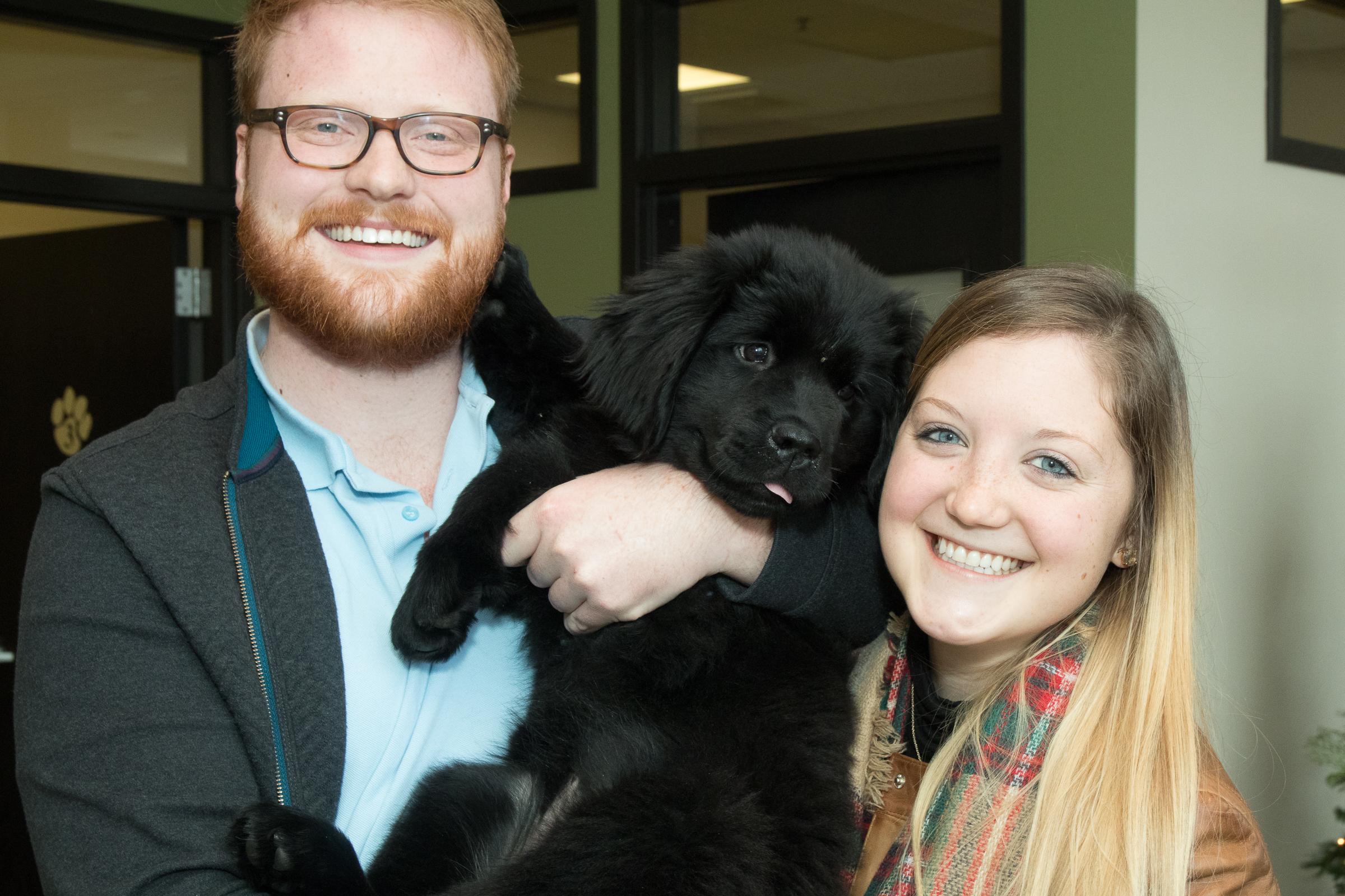 Brian, Katie, and puppy Margot