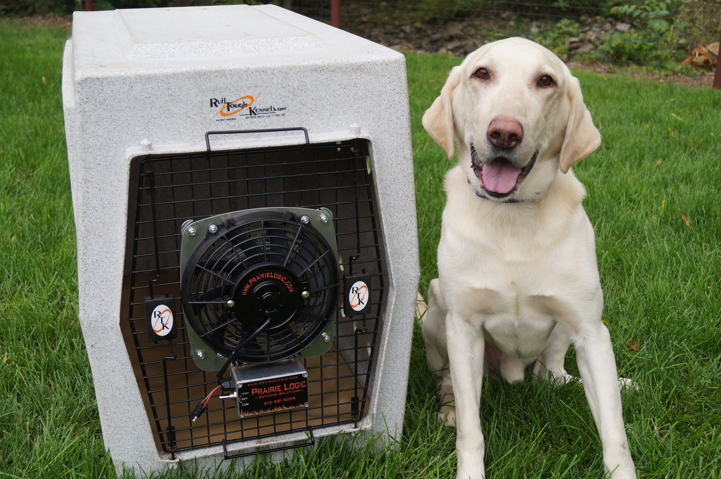 "9"" Kennel Fan w/ Deuce"