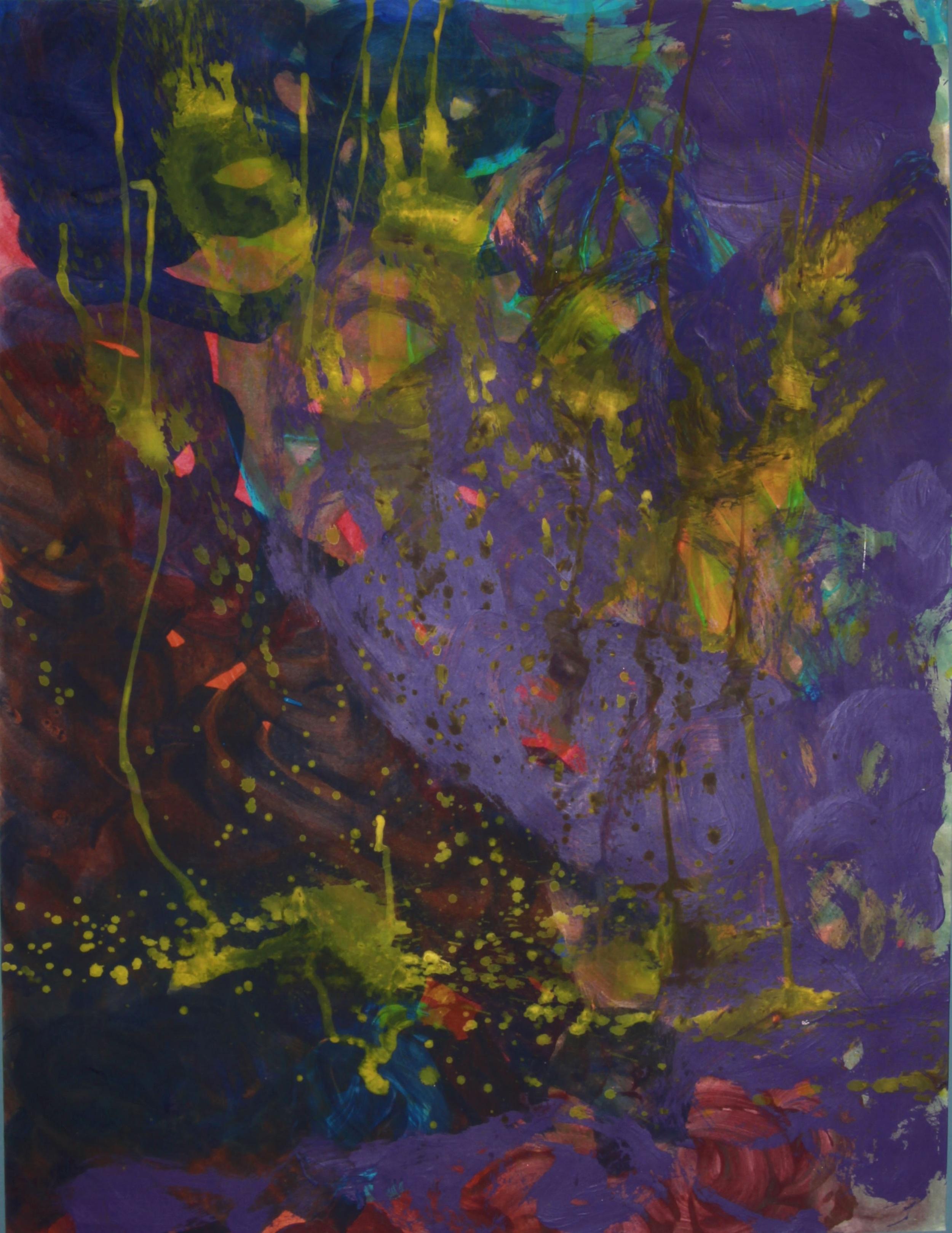 "Mia Brown, ""Sunken Treasure,"" 2014, 31""x25"", Mixed Media on Paper"
