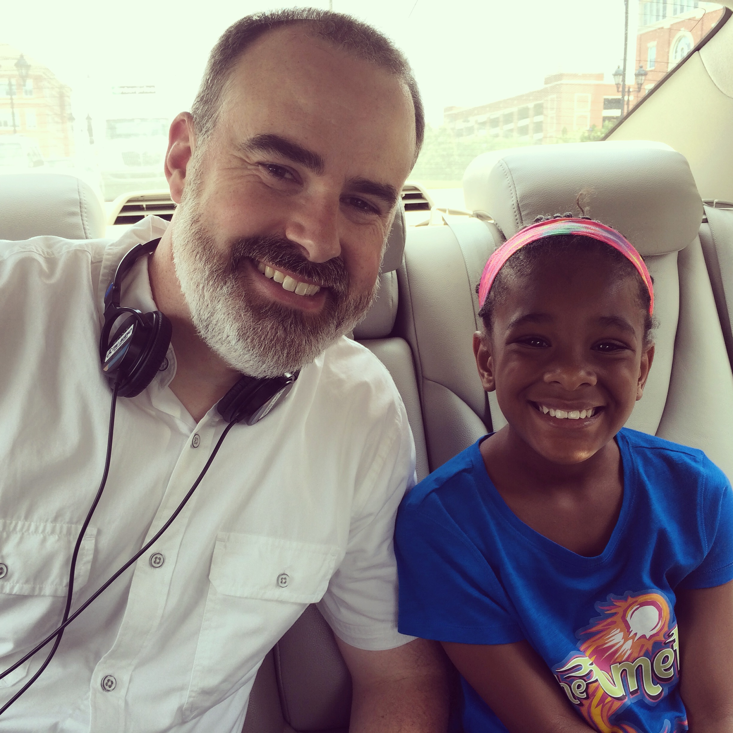 Alena with Director Alex Kendrick