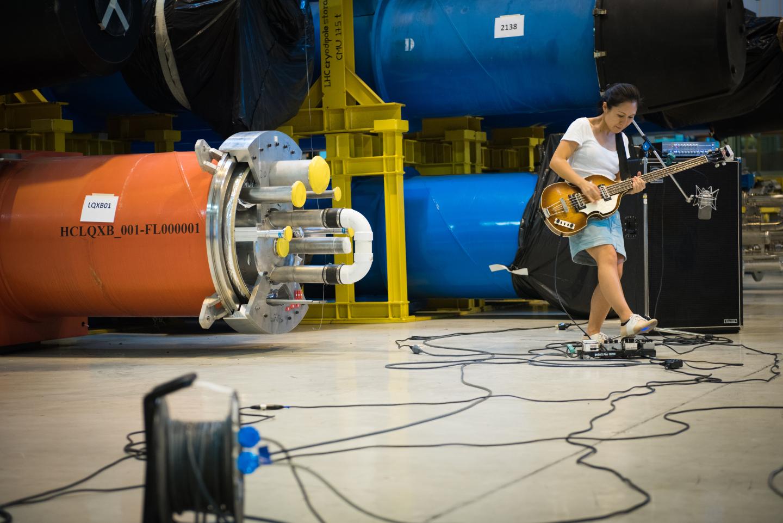 Deerhoof's bassist Satomi Matsuzaki in SM-18 (Image: Marine Bass/CERN)