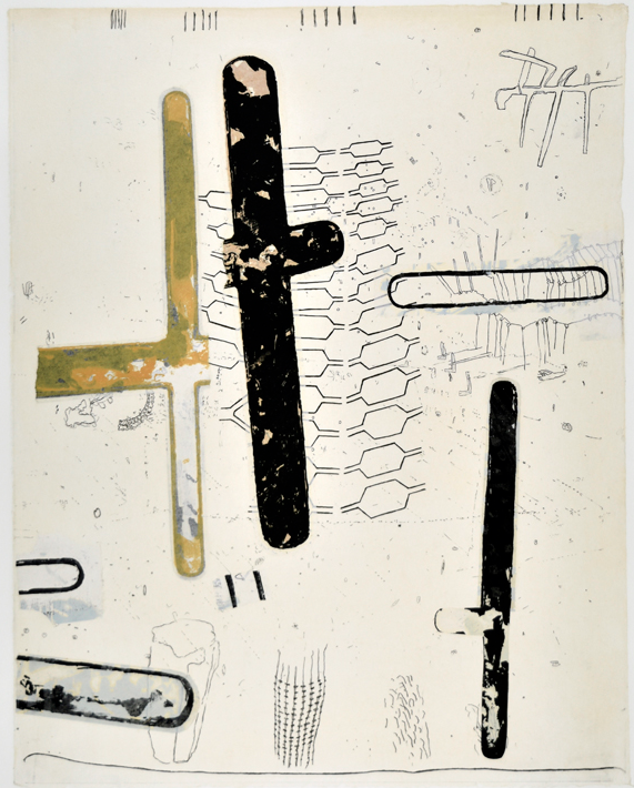 """Mistaken in Charlevoix I  25"""" x 19""""  litho, screen and chine colle"""