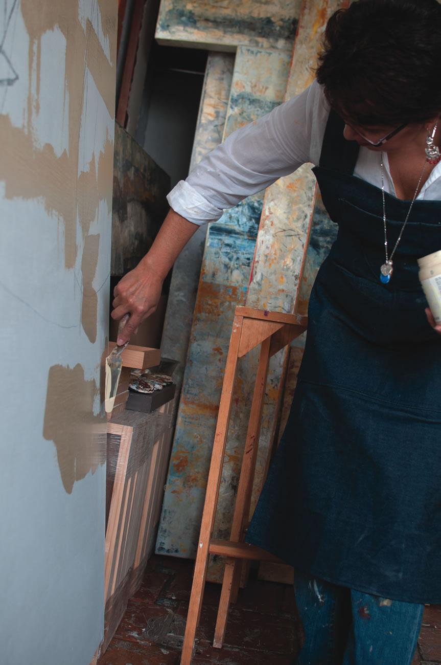 En el taller de Virginia Chévez  Fotografía por Daniela Castillejos Chévez