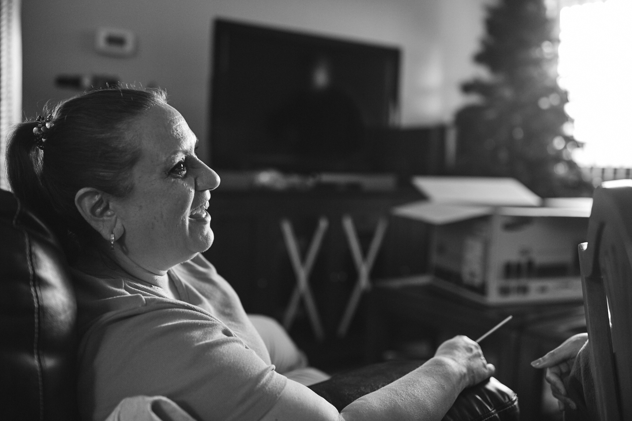 My dear mom laughing and having a great time.