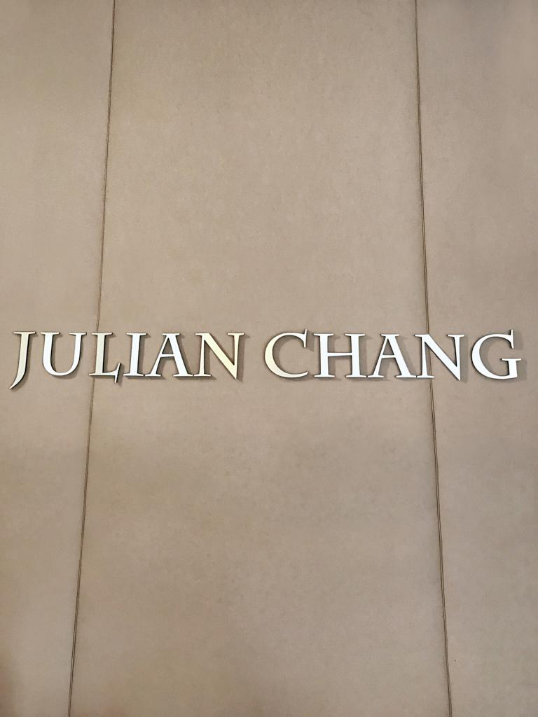 Julian Chang Logo at the Store
